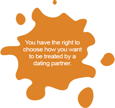 You have the right to choose how you want to be treated by a dating partner.