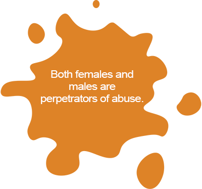 Both females and males are perpetrators of abuse.